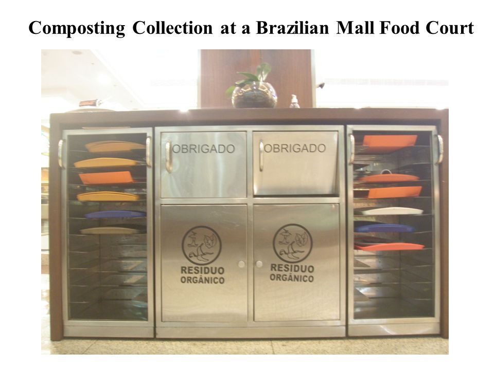 Composting Collection at a Brazilian Mall Food Court