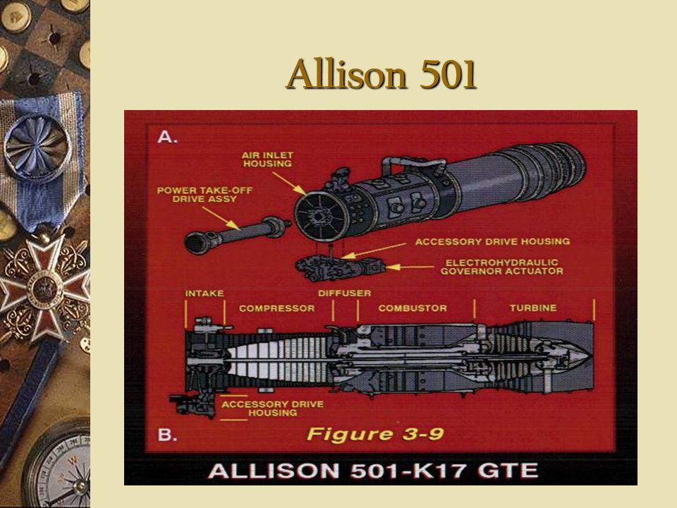 Allison 501 Gas Turbine Generator Set (GTGS) Used to generate electricity Three 2000KW GTGS Any two can supply electrical needs of ship Separated by 3
