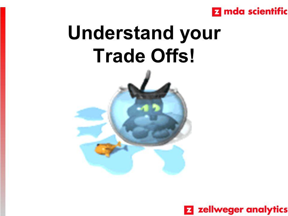Understand your Trade Offs!