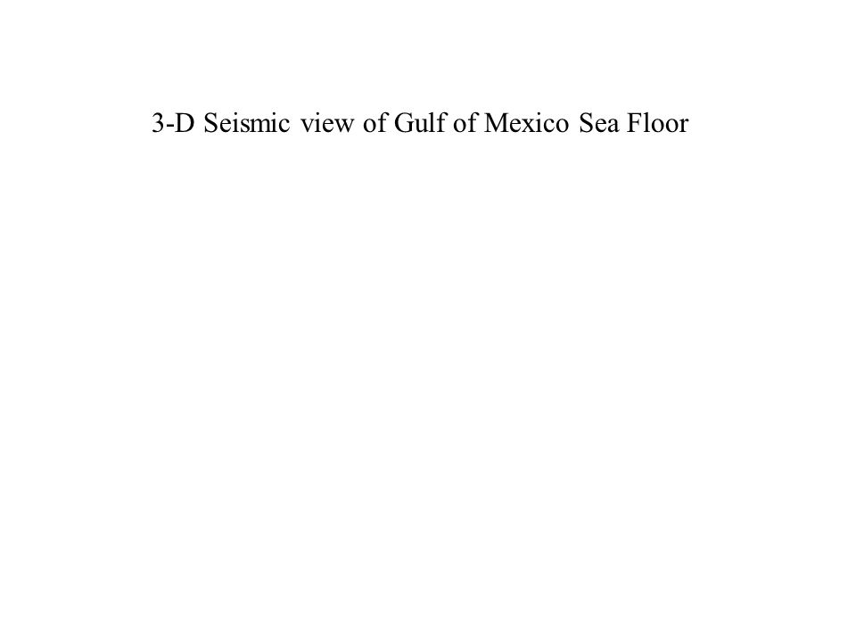 3-D Seismic view of Gulf of Mexico Sea Floor