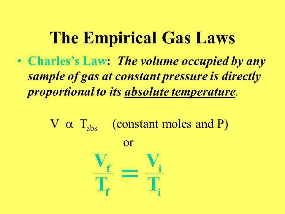 Figure 5.22: Molecular description of Charless law. Return to Slide 41
