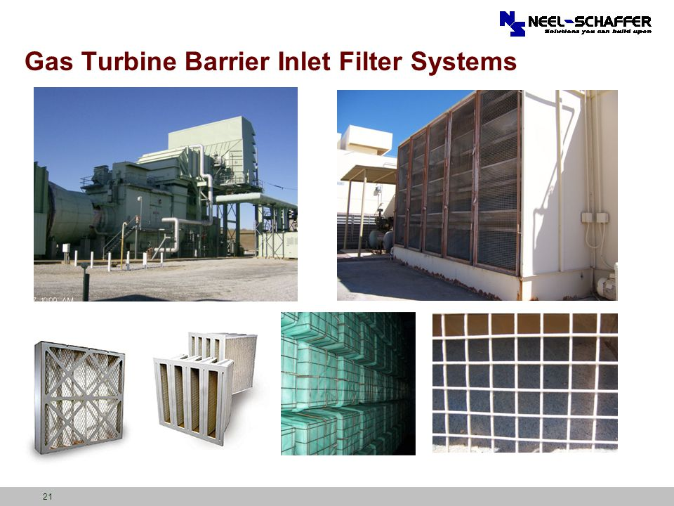 21 Gas Turbine Barrier Inlet Filter Systems