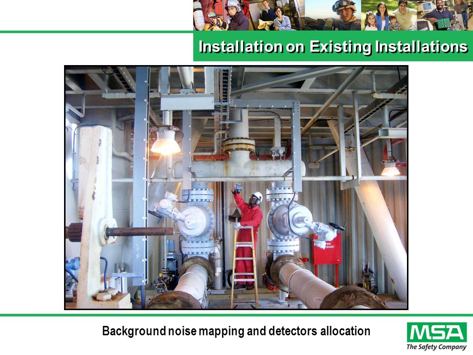 Background noise mapping and detectors allocation Installation on Existing Installations