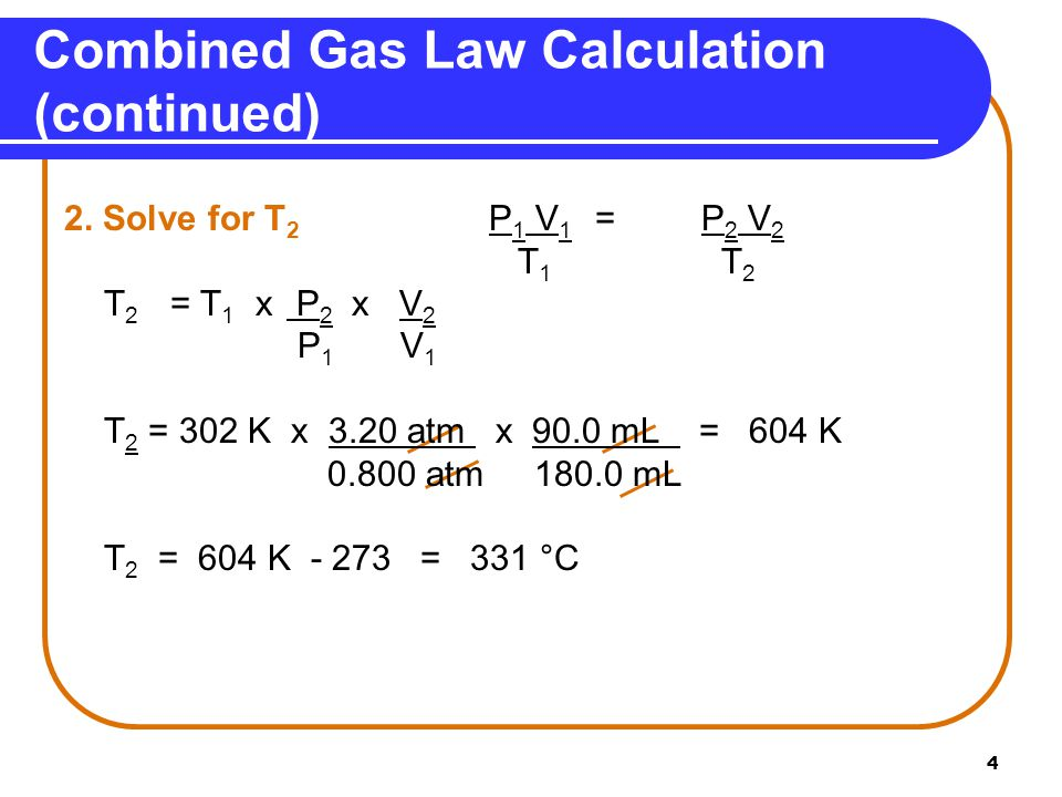 5 A gas has a volume of 675 mL at 35°C and 0.850 atm pressure.
