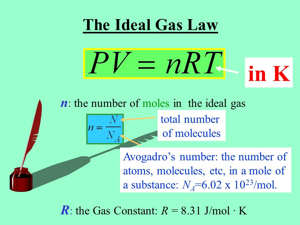 Equipartition of Energy The internal energy of non-monatomic molecules includes also vibrational and rotational energies besides the translational energy.