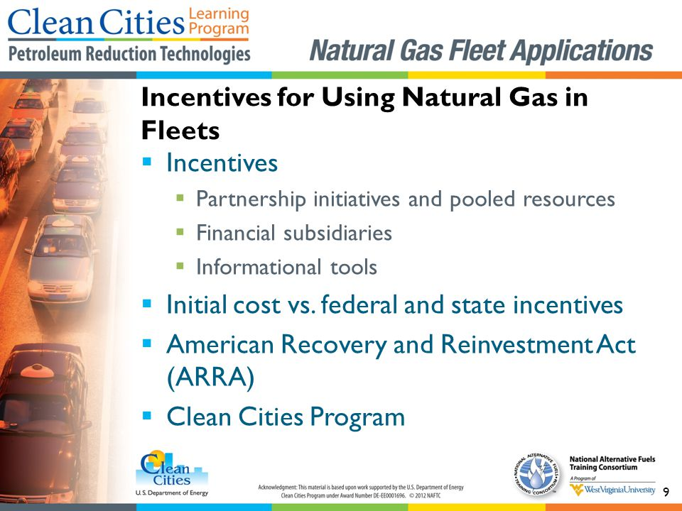 9 Incentives Partnership initiatives and pooled resources Financial subsidiaries Informational tools Initial cost vs.