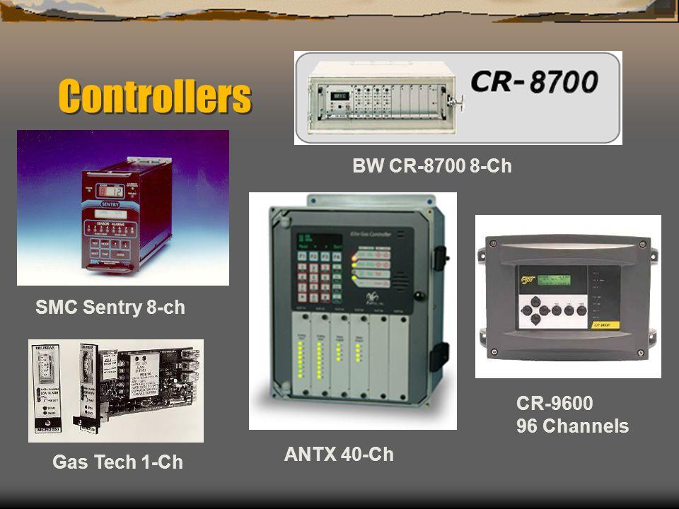 Controllers SMC Sentry 8-ch BW CR-8700 8-Ch Gas Tech 1-Ch CR-9600 96 Channels ANTX 40-Ch