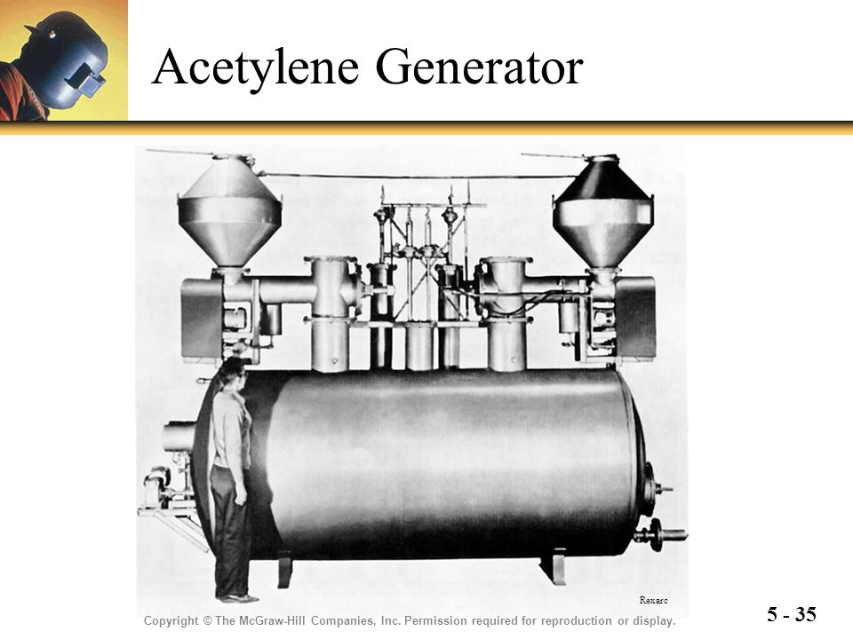 5 - 35 Acetylene Generator Copyright © The McGraw-Hill Companies, Inc. Permission required for reproduction or display. Rexarc