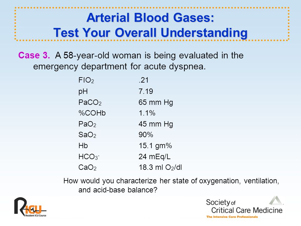 Arterial Blood Gases: Test Your Overall Understanding Case 3.