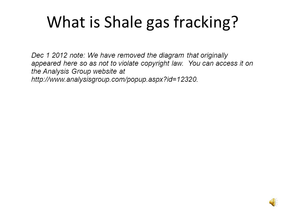What is Shale gas fracking.