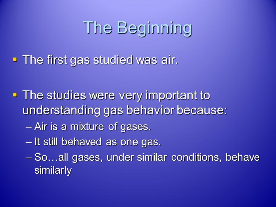Gas Behavior Chapter 12