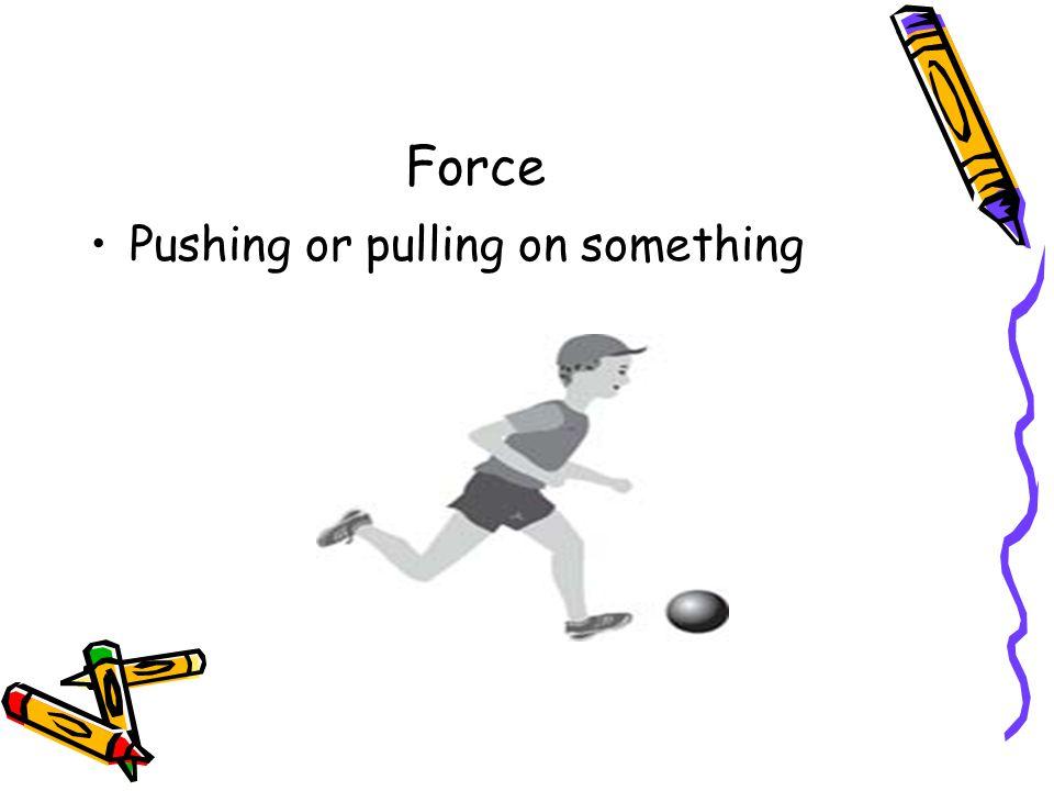 Force Pushing or pulling on something
