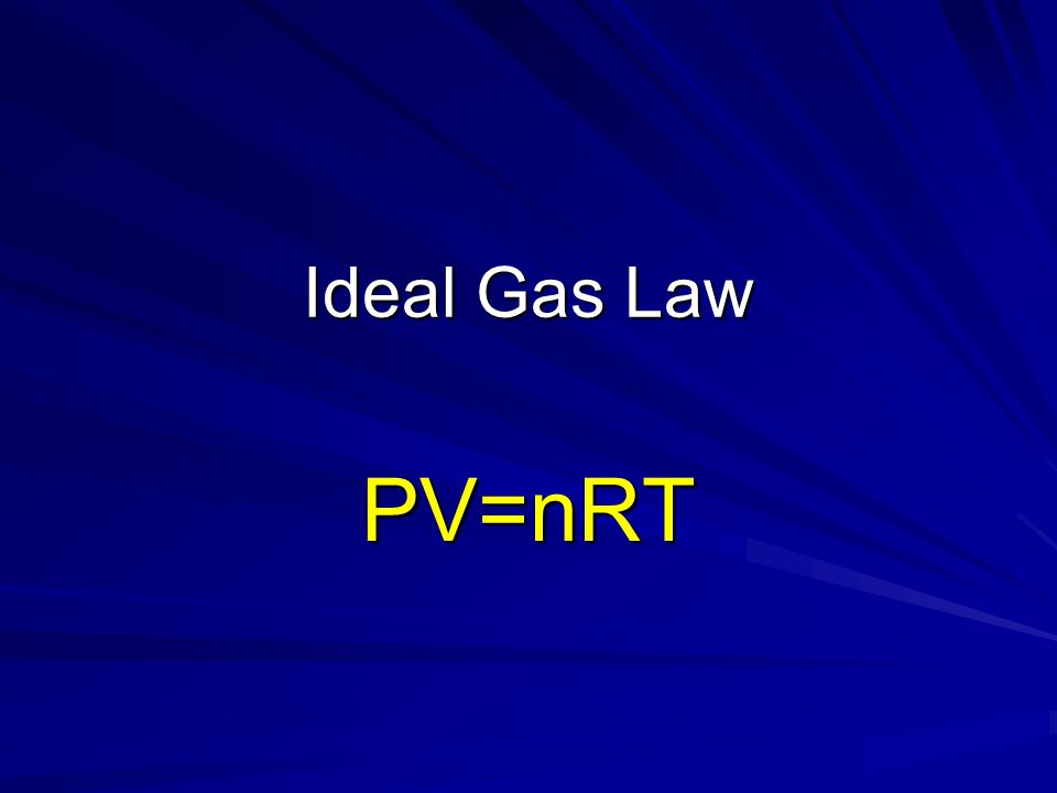 Ideal Gas Equation Use when NOT at STP!!.