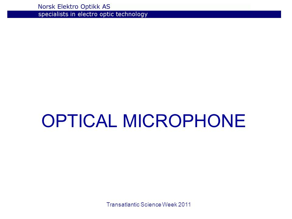 OPTICAL MICROPHONE