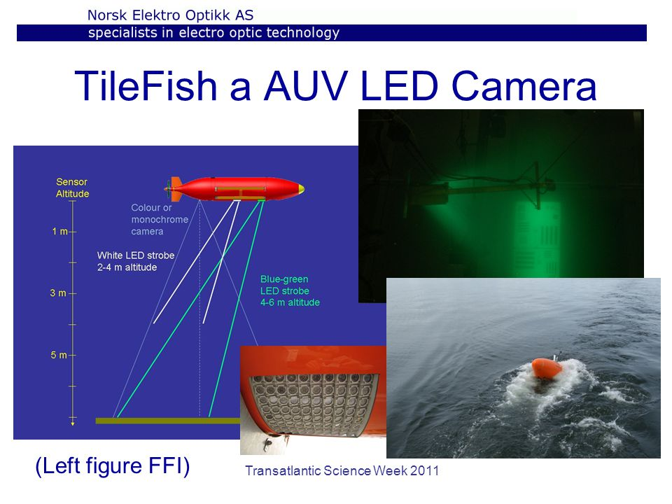 Transatlantic Science Week 2011 TileFish a AUV LED Camera (Left figure FFI)