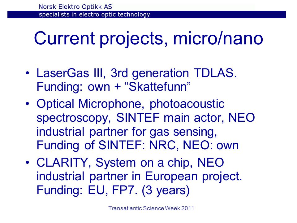 Current projects, micro/nano LaserGas III, 3rd generation TDLAS.