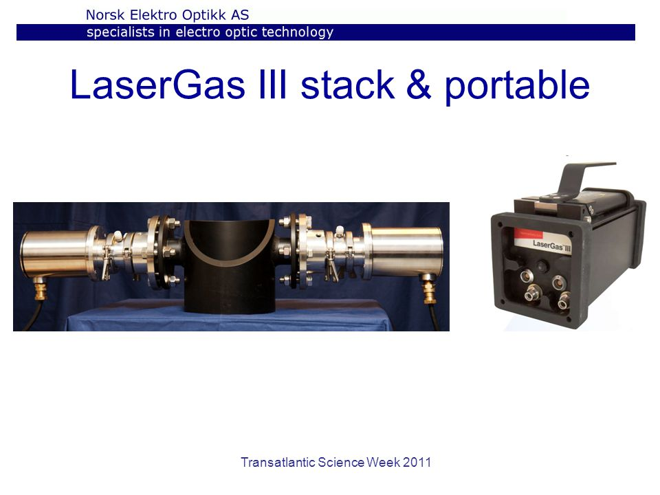 Transatlantic Science Week 2011 LaserGas III stack & portable