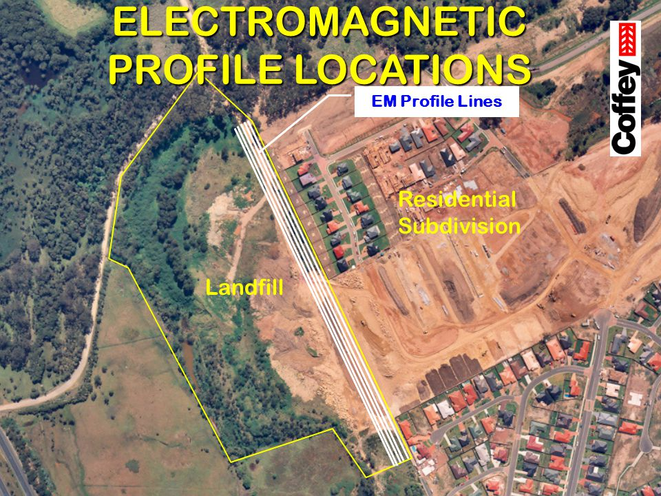 Landfill Residential Subdivision EM Profile Lines ELECTROMAGNETIC PROFILE LOCATIONS