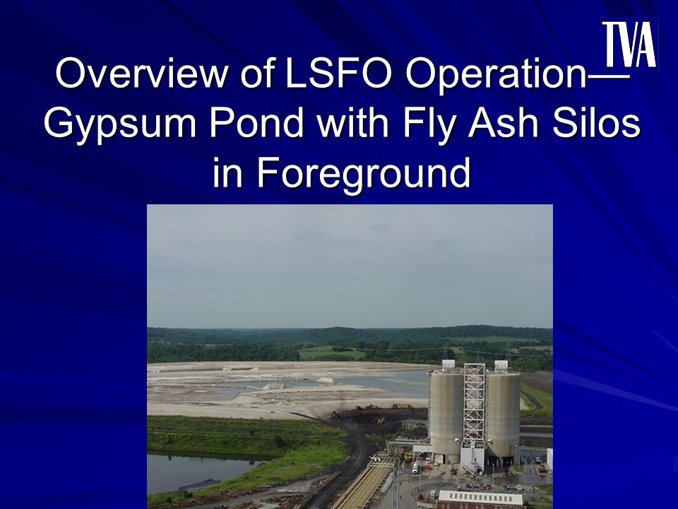 Overview of LSFO Operation Gypsum Pond with Fly Ash Silos in Foreground