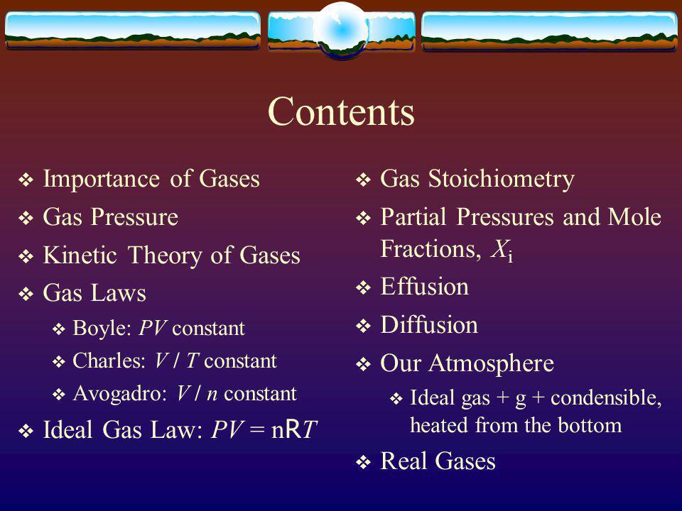Zumdahls Chapter 5 Gases