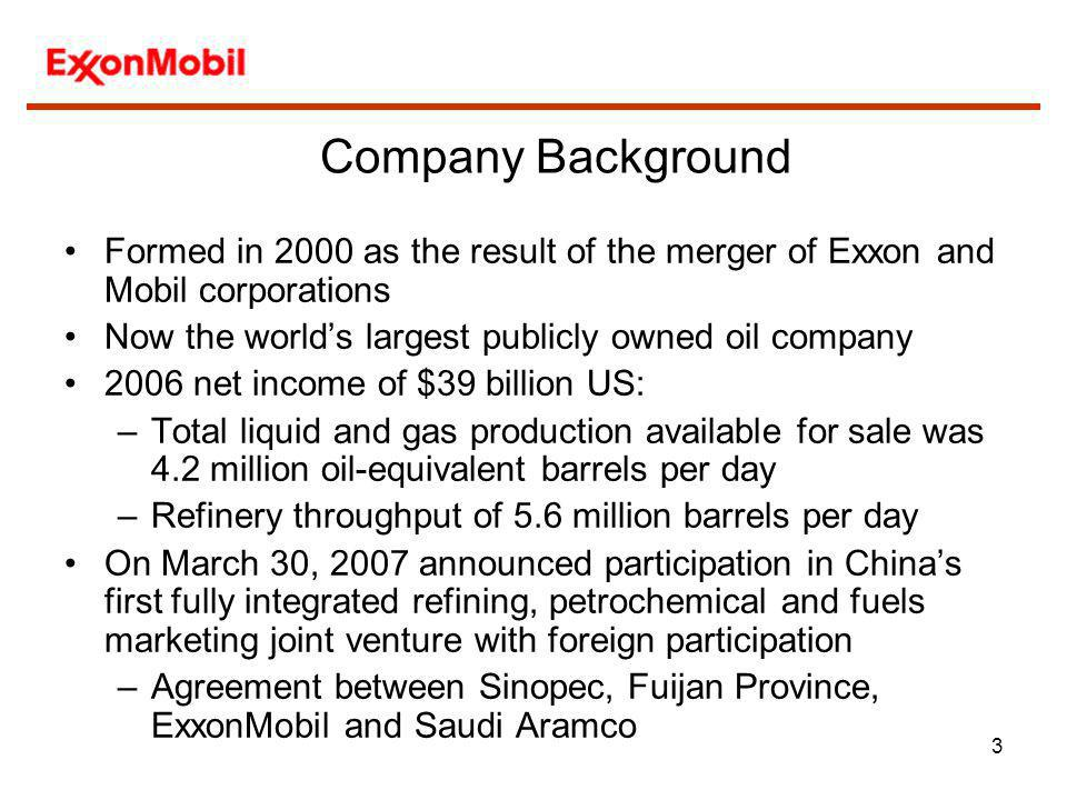 4 Standards Strategy ExxonMobil has long been active in national and international standardization –Member of the American Petroleum Institute (API), the leading oil industry standards developing organization since 1919 –Chairman and CEO Rex Tillerson currently serves as Chairman of the API Board –Involvement in ISO activities since 1947, providing the chair of TC28, Petroleum Products and Lubricants since its inception and holding a variety of other positions in TC28 as well as TC67, Oilfield Equipment, Materials, and Offshore Structures and TC193, Natural Gas