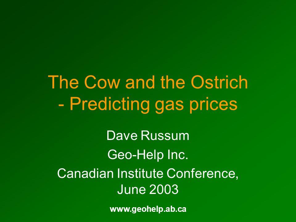 www.geohelp.ab.ca Future Marketable Gas Canada (Bcf/Yr) 3% Decline to 2005 5% Decline after