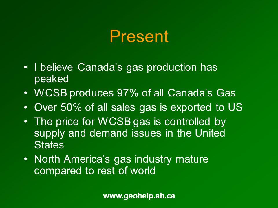 www.geohelp.ab.ca Future Marketable Gas East Coast (Bcf/Yr) Sable Deep Panuke?