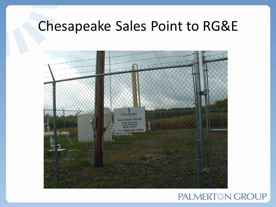 Chesapeake Sales Point to RG&E