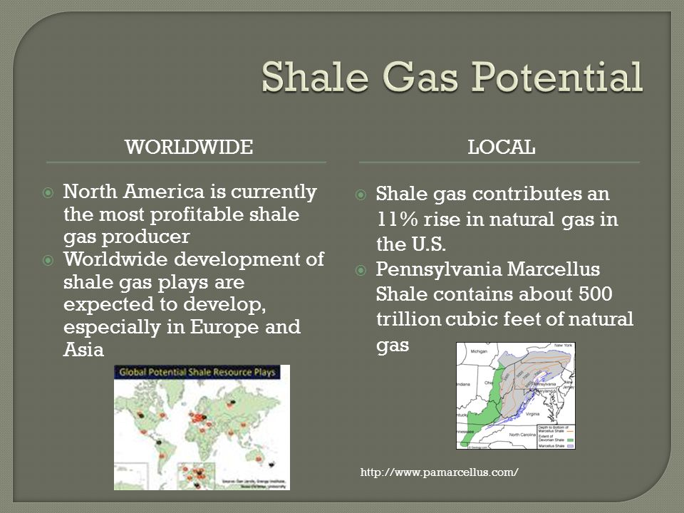 WORLDWIDELOCAL North America is currently the most profitable shale gas producer Worldwide development of shale gas plays are expected to develop, esp