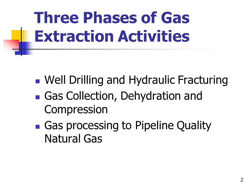 3 Well drilling and Hydraulic Fracturing Potential Air Emissions NOx, VOC and PM2.5 emissions from drilling PM emissions from construction activities and traffic on access roads Diesel fumes from equipment operations VOC and HAP (methanol from fracturing fluids) NOx, CO and VOC emissions from off gas flaring Radionuclides such as radium and radon from wastewater treatment of fluids