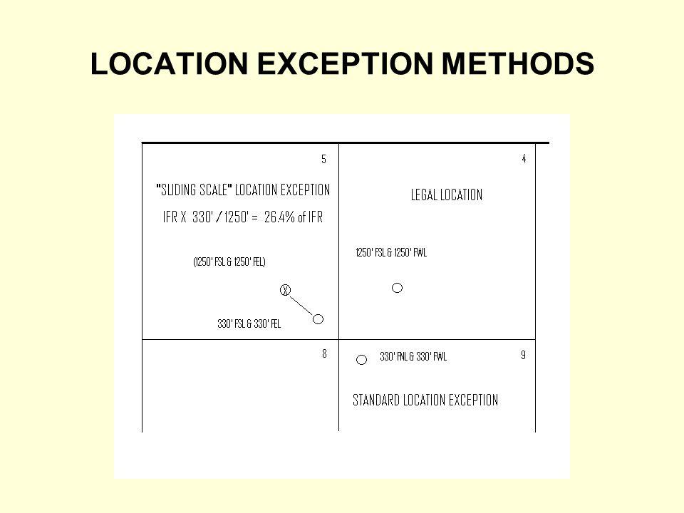 LOCATION EXCEPTION METHODS
