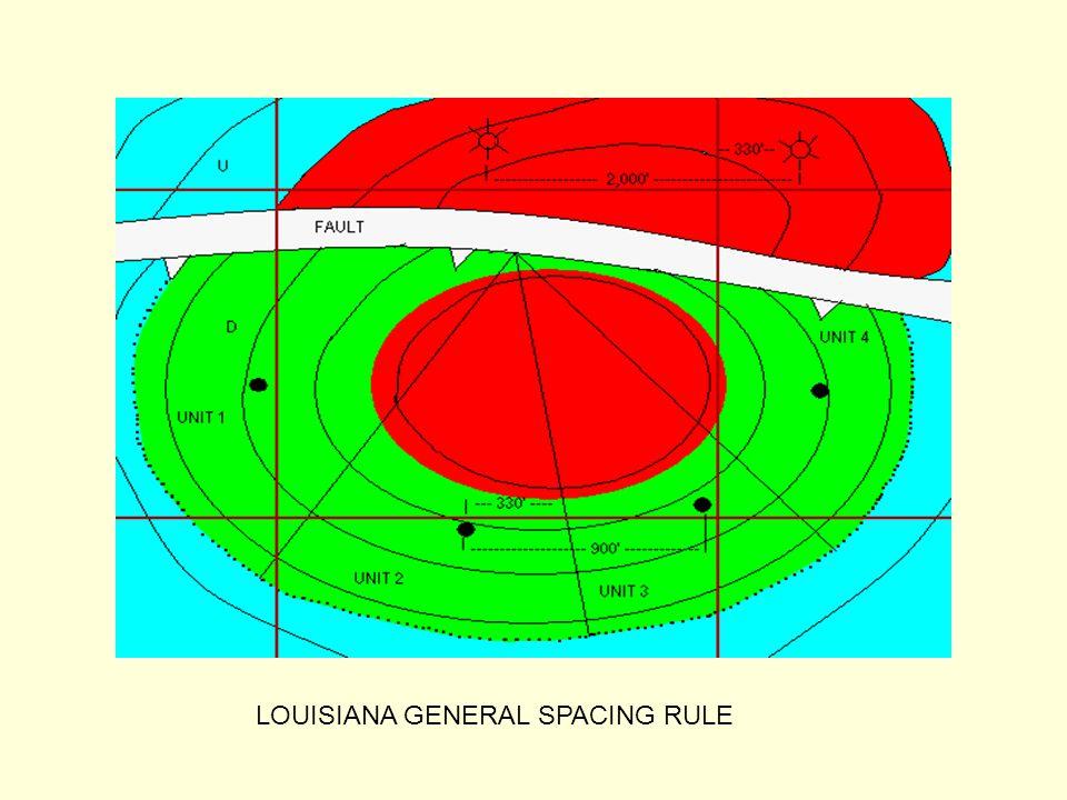 LOUISIANA GENERAL SPACING RULE