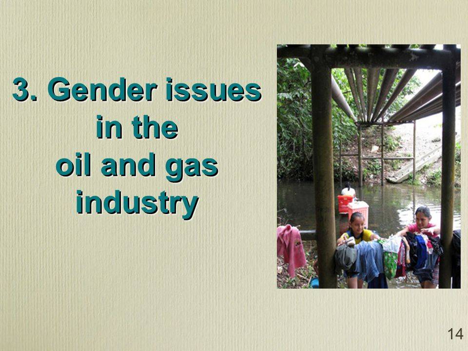 14 3. Gender issues in the oil and gas industry
