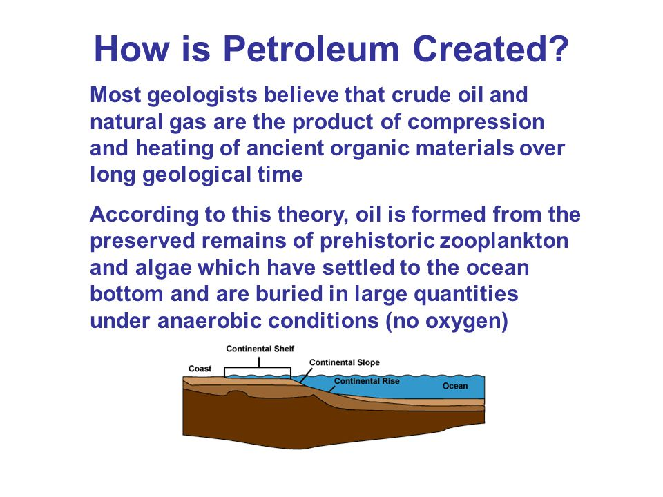 How is Petroleum Created.