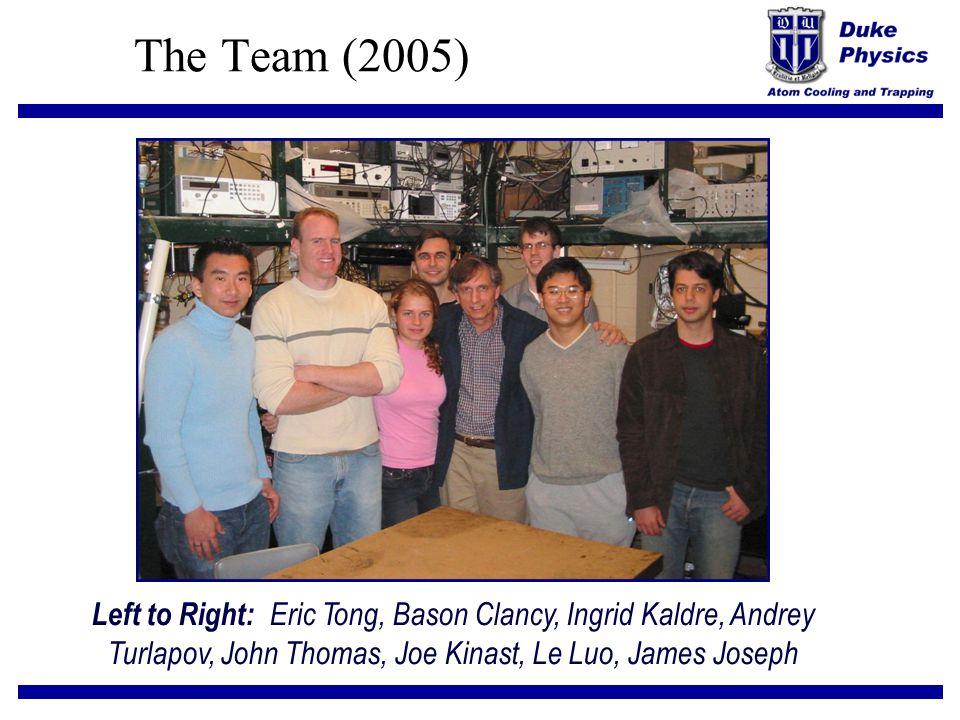 The Team (2005) Left to Right: Eric Tong, Bason Clancy, Ingrid Kaldre, Andrey Turlapov, John Thomas, Joe Kinast, Le Luo, James Joseph