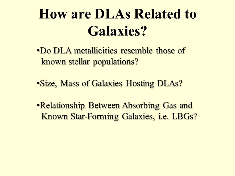 How are DLAs Related to Galaxies.