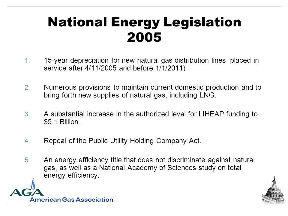 National Energy Legislation 2005 1.