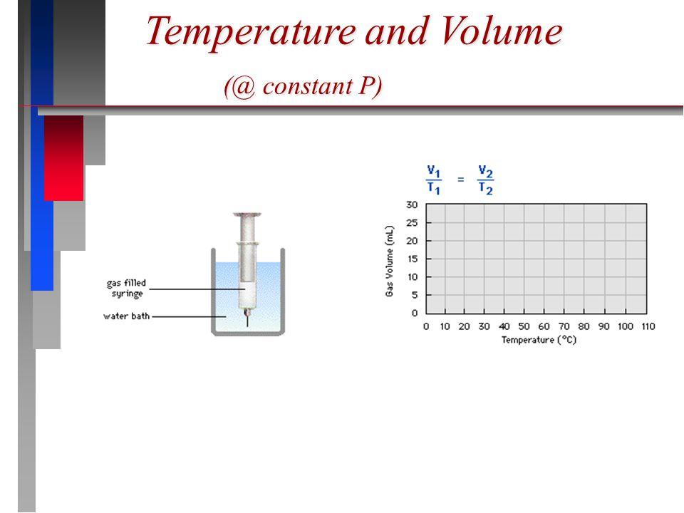 Temperature and Volume (@ constant P)