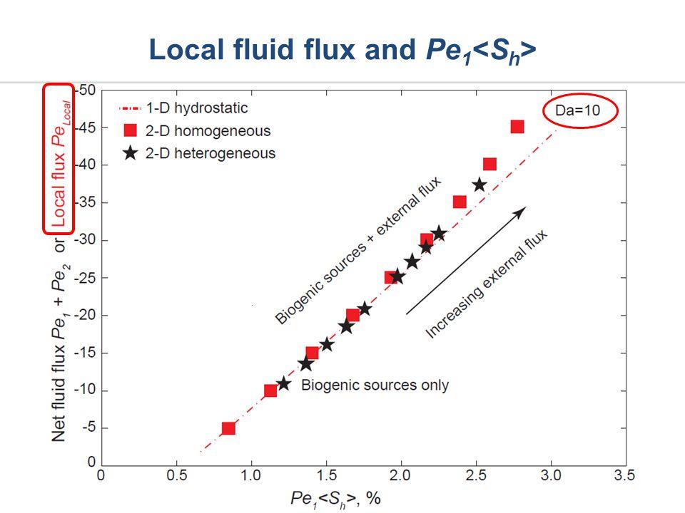 Local fluid flux and Pe 1