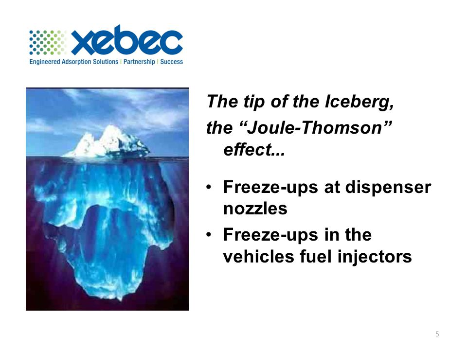 The tip of the Iceberg, the Joule-Thomson effect...