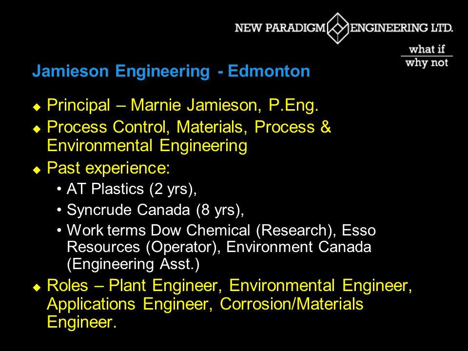 Marlett Engineering Ltd. – Edmonton Principal – Fred Marlett, M.Eng., MBA, P.Eng.