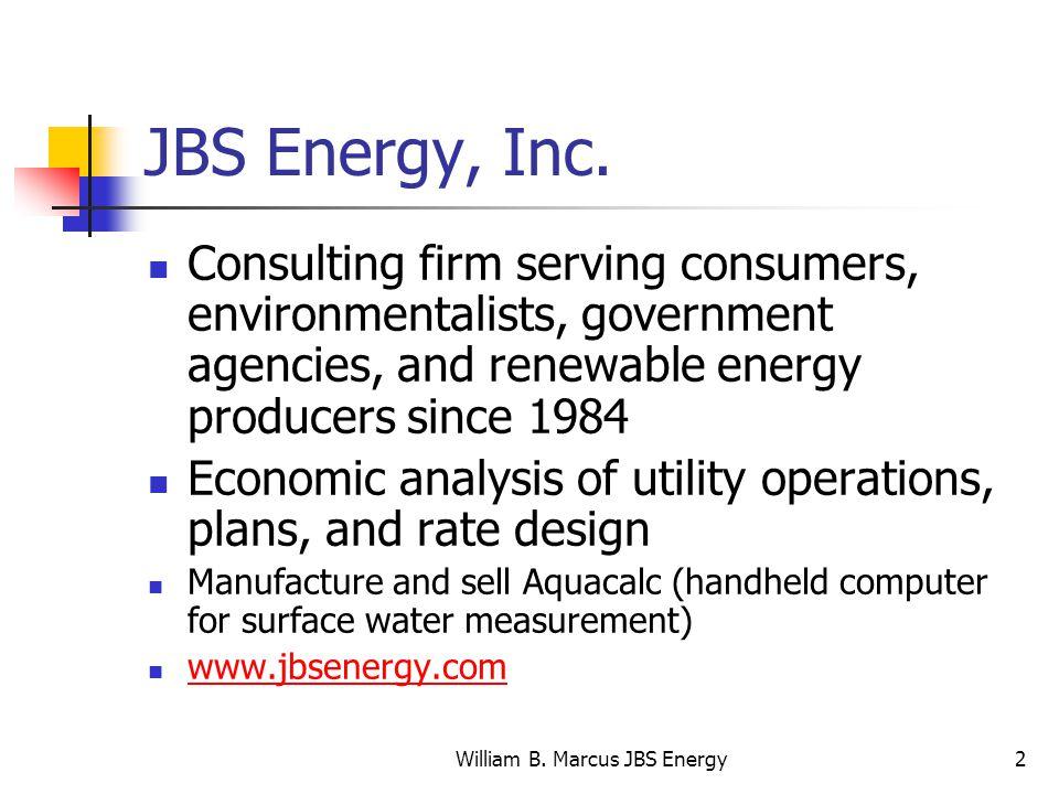 William B. Marcus JBS Energy2 JBS Energy, Inc.