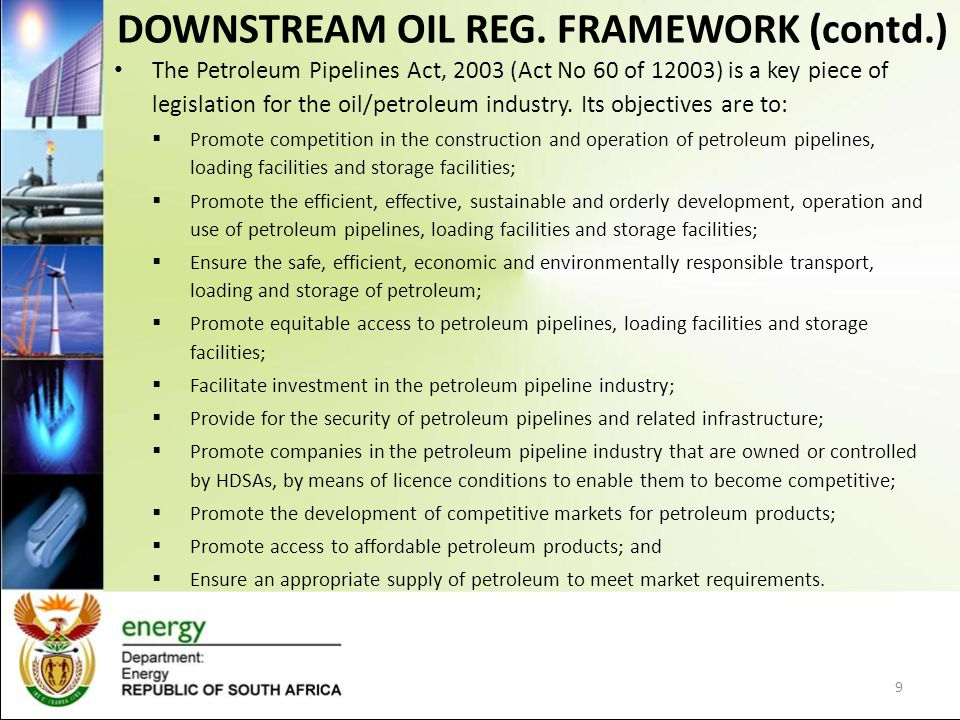 DOWNSTREAM OIL REG.