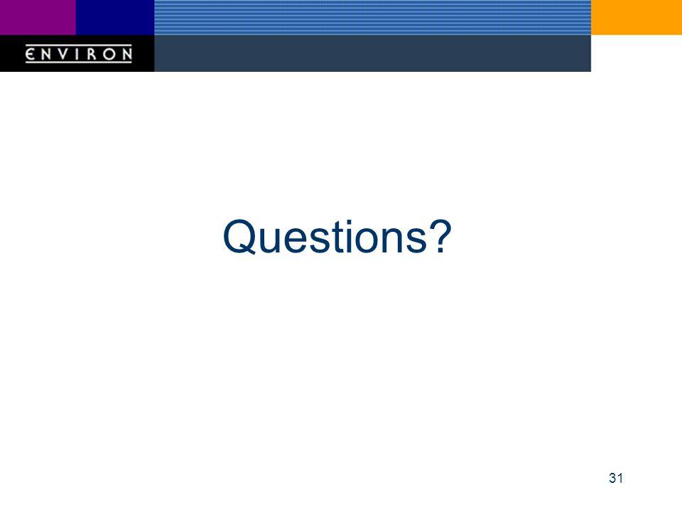 31 Questions?