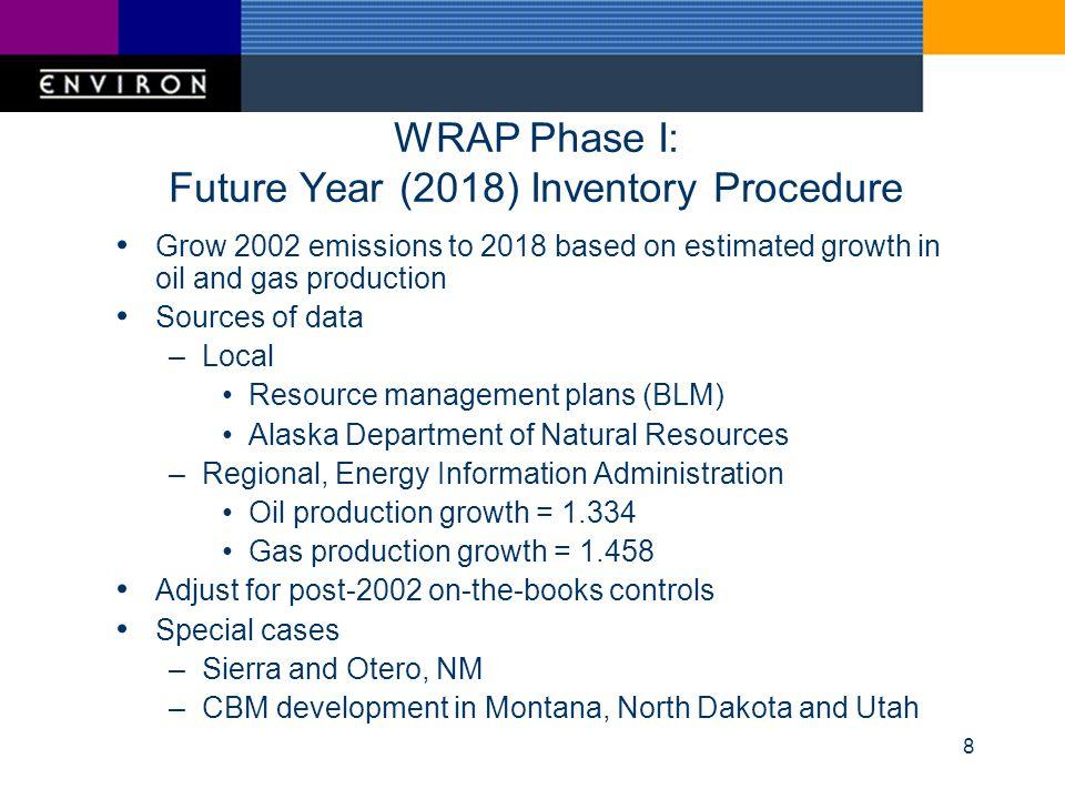 9 WRAP Phase I 2002 and 2018 NOx Emissions