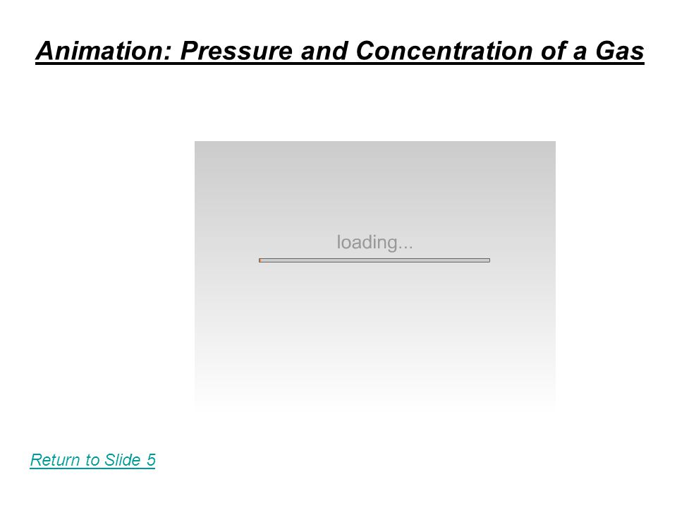 Animation: Pressure and Concentration of a Gas Return to Slide 5