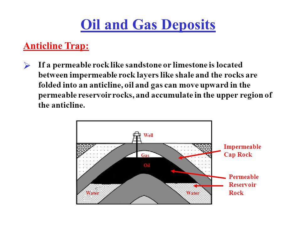 Oil and Gas Deposits If faulting can shift permeable and impermeable rocks so that the permeable rocks always have impermeable rocks above them, then an oil trap can form.