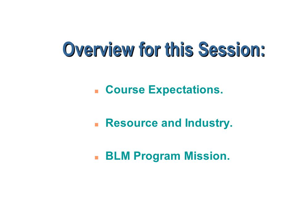 Course Objectives To enable managers: n To make effective Oil & Gas resource use decisions.