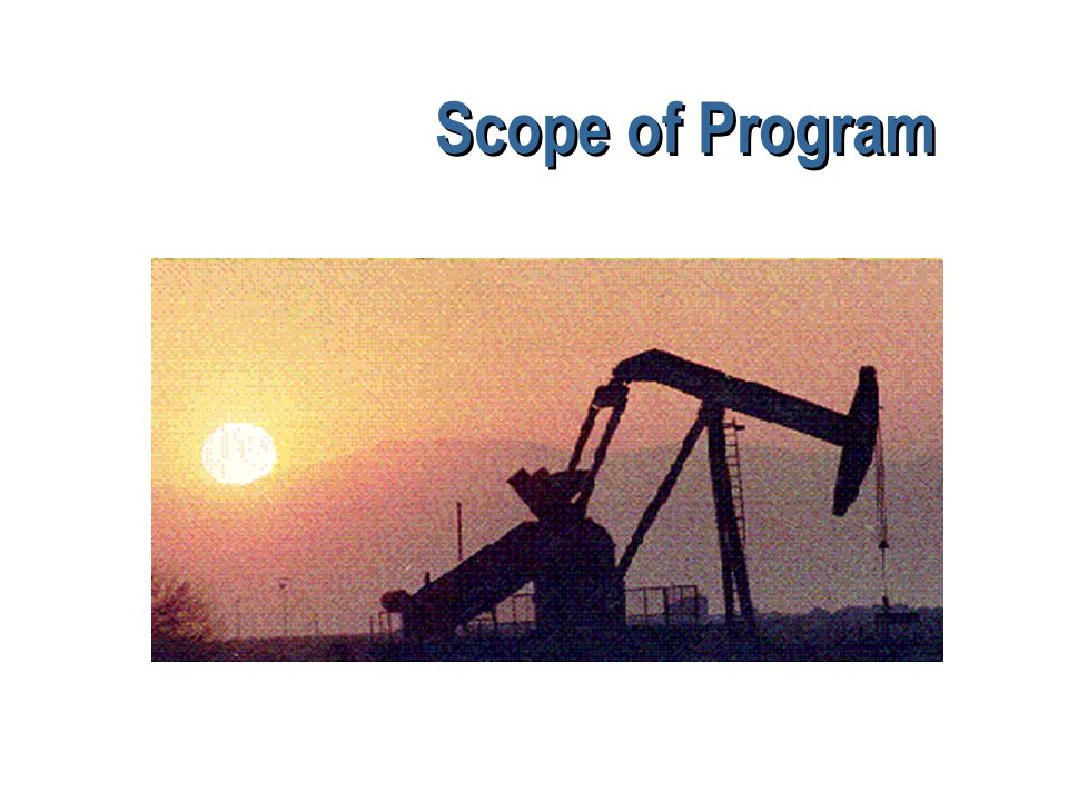 Scope of Program