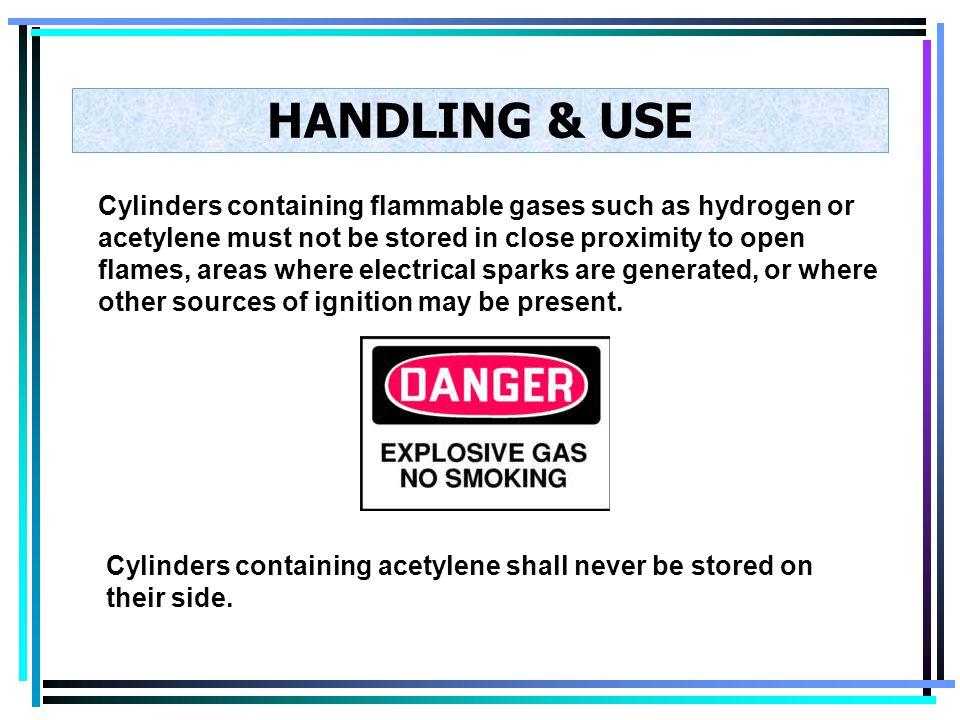 HANDLING & USE Cylinder valves should be opened slowly. Oxygen cylinder valves should be opened all the way. Open up the oxygen cylinder valve stem ju